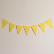 Yellow Wedding and Party Bunting - 4 Meter Kit